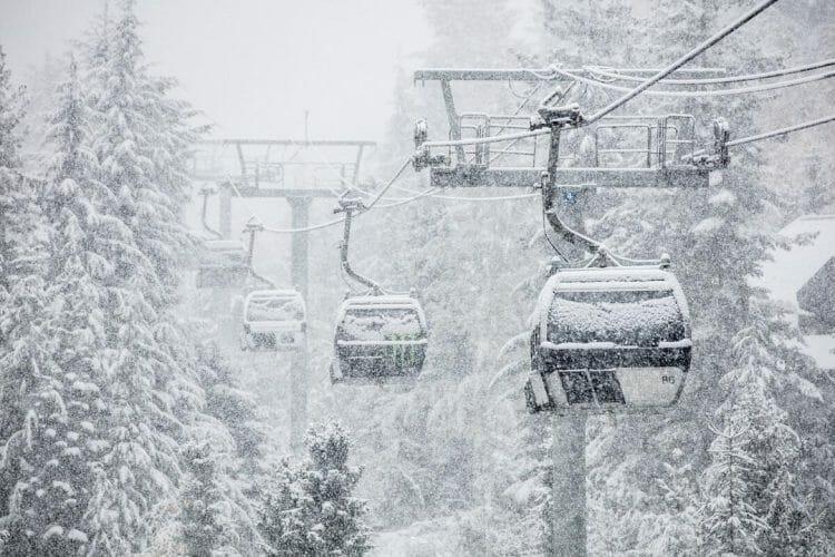 снегопад Ванкувер