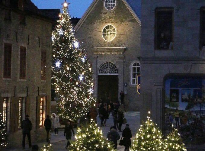 старый Квебек на Рождество