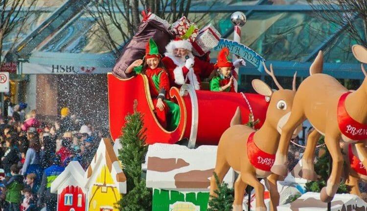 парад Санта Клауса в Ванкувере