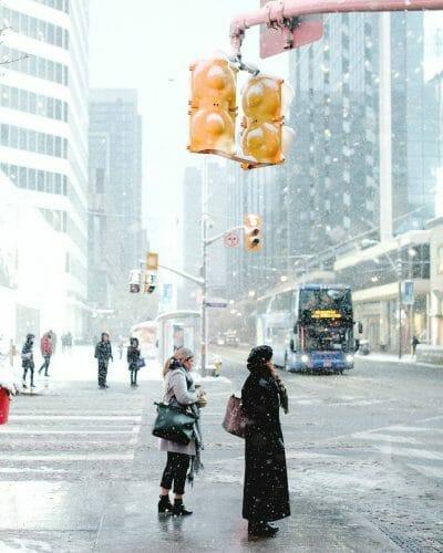 снегопад в Торонто