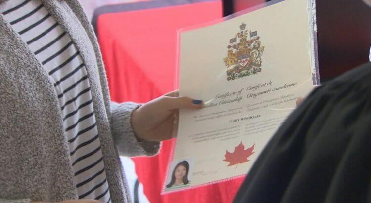 сертификат гражданина канады