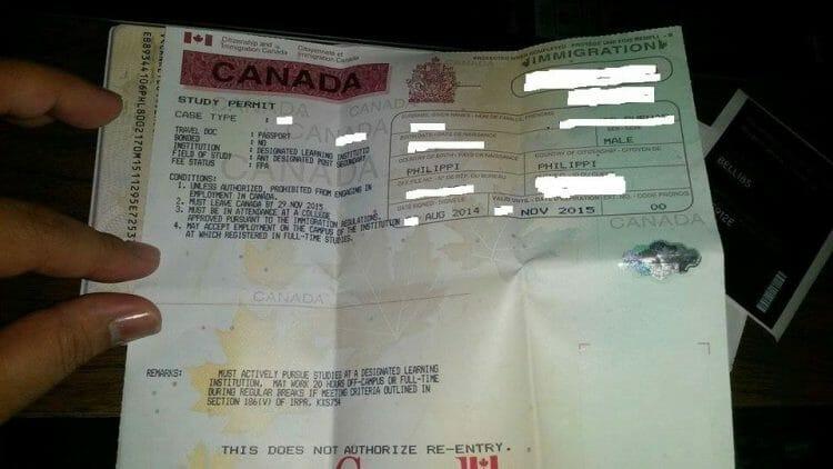 разрешение на учебу в канаде