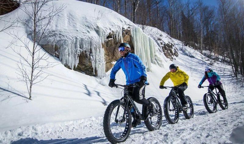 катания на велосипеде зимой