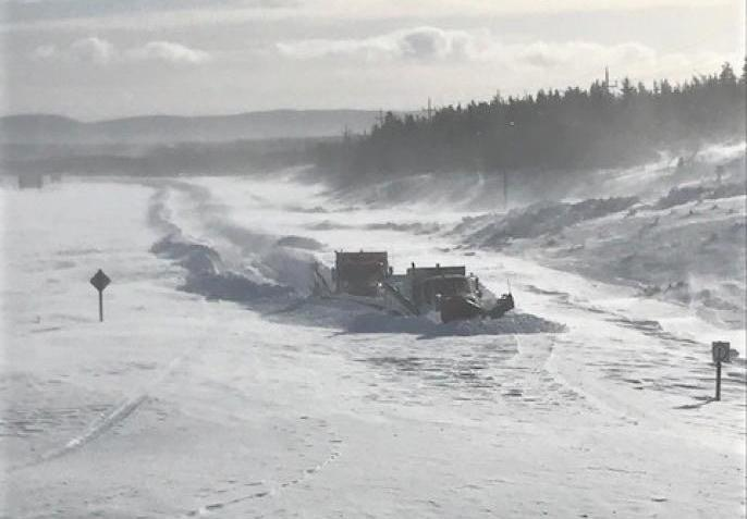 шоссе снег