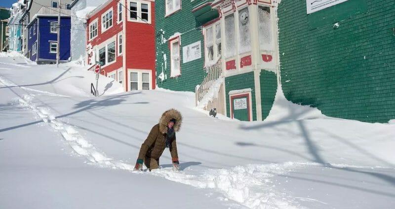 рекордный снегопад