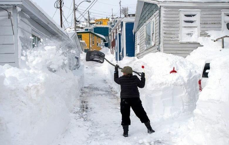 снегопад канада рекорд