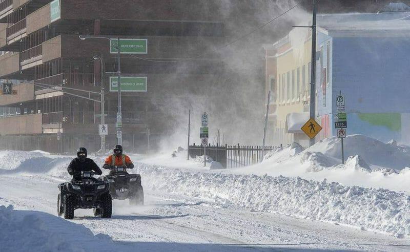 снегопад канада январь