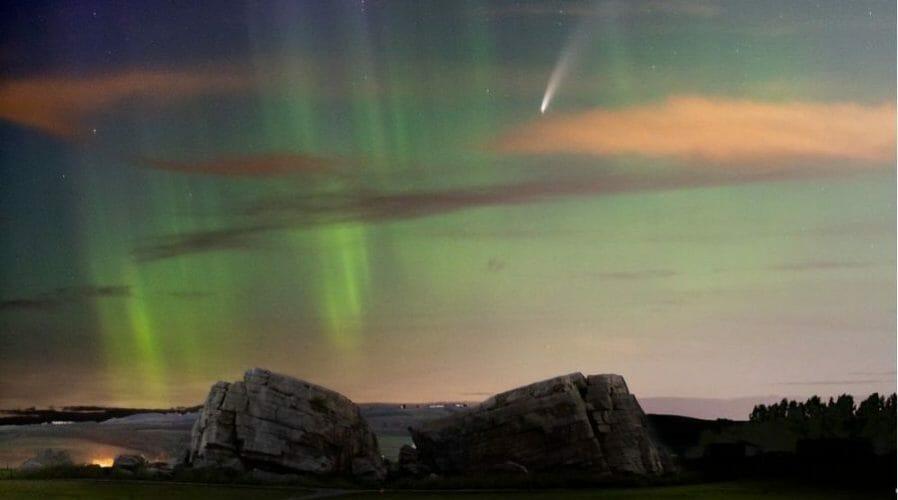 комета северное сияние