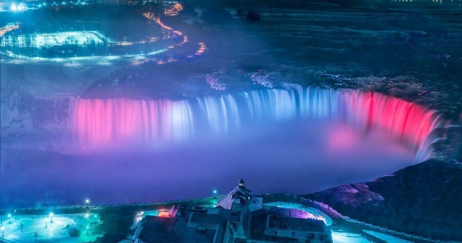 подсветка ниагарского водопада