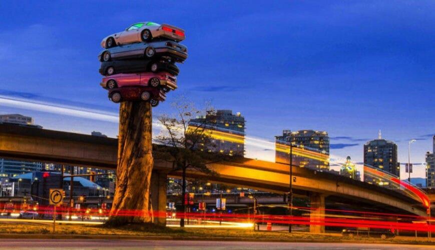 ванкувер памятник автомобили