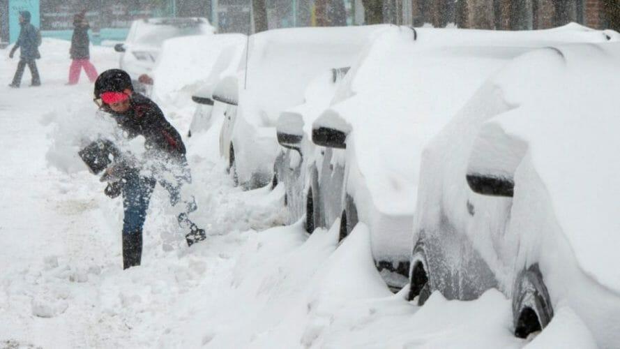 онтарио снегопад